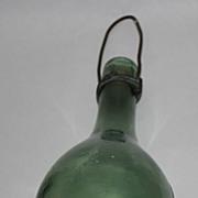 Hand blown round bottom bottle