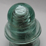 Glass two part railway insulator