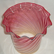 REDUCED Cranberry opalescent swirl glass oil /gas shade