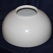 14 Inch Blown White Glass Library Lamp Shade