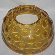 REDUCED Amber hanging oil lamp shade