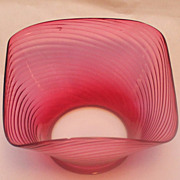 REDUCED Gas oil cranberry swirl lamp shade