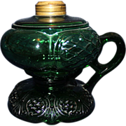 REDUCED Green footed Prince Edward oil lamp