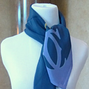 SOLD Must de Cartier Silk Scarf Made in Italy