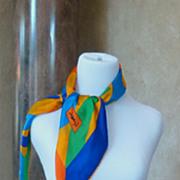 Vintage Yves St. Laurent Silk Scarf