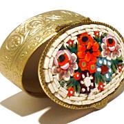 Amazing Vintage Italian Mosaic Pillbox