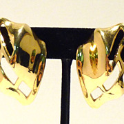1970s/1980s Contemporary Geometric Trifari Earrings