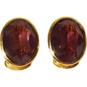 Christian Dior Amethyst-Colored Crystal Earrings