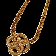 70s SAL Swarovski Infinity Celtic Love Knot - RARE!!