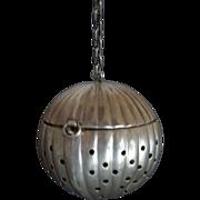Pumpkin Shape Sterling Silver Tea Ball (teaball)