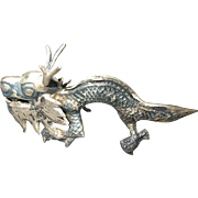 Silver Bearded Dragon Place Card Holder