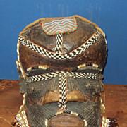 SALE African Mask Helmet, Tribal Mboom, Kuba Zaire
