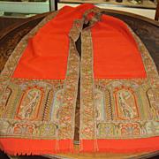 SALE Antique Paisley Shawl woven Kashmir Wool