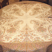 SALE Kashmir Shawl Hand Woven Wool Paisley