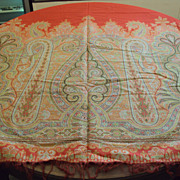 SALE Antique Paisley Shawl woven wool