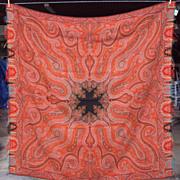 SALE Kashmir Antique Paisley Shawl wool