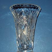 SALE Hand Cut Lead Crystal Vase Germany Imperlux