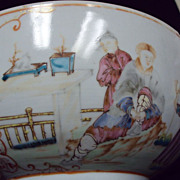SALE Antique Chinese Famille Rose Large Bowl Rare