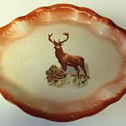SALE Platter with a Magnificent Elk c.1890 Harken Pottery