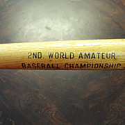 SALE Baseball Mini Bat, 2nd World Amateur Baseball Championship St. Petersburg Florida