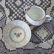 SALE Cream Pitcher and Open Sugar Bowl, Paragon English bone china