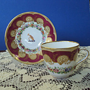 SALE Large Teacup and Saucer Hand Painted English china