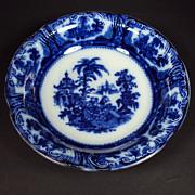 SALE Flow Blue Serving Bowl c1891 Kyber W Adams England