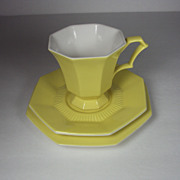 SALE Tea Cup, Saucer and Plate Yellow Independence Ironstone USA