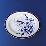 SALE Platter Cobalt Blue by George Jones and Sons c. 1890 Stoke England