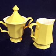 SALE Creamer and Sugar Bowl Independence USA