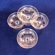 SALE Antique Moser Bohemian Four Sherbet glasses