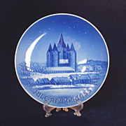 SALE 1955 Danish Christmas Plate, Bing and Grondahl, Kalundborg Kirke Church