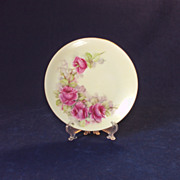 SALE Plate with Roses, Hand Painted, Signed