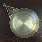 SALE Pewter Dish by Dr. Ivan H. Crowell handmade Huron Carol 1977 signed