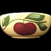 SALE Watt Pottery #53 Open Baker Apple w three Leaves Advertisement