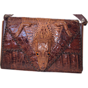 SALE 1940's Alligator Bag with attached gator