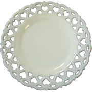 SALE Fiery and Lacey Opal White Milk Glass