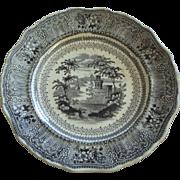 Transferware by Stevenson and Son ca. 1832, Staffordshire England, Cologne black pattern