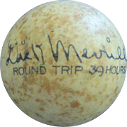 SALE 1936 First Round Trip Trans-Atlantic Flight autographed by Dick Merrill and Harry Richman