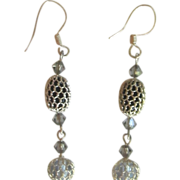 Vintage Silver Tone Dangle Earrings