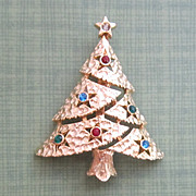 Vintage Christmas Tree Pin/Brooch