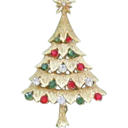 Vintage COREL  Christmas Tree Pin