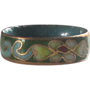 Vintage Asian Cloisonne' Ring - Size 5