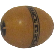 Vintage Wood Carved Egg