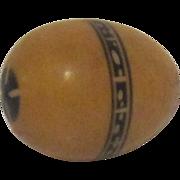 Vintage Wood Carved Egg