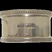 Silver Napkin Ring - John Henry Potter, Sheffield, UK