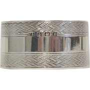 Sterling Silver Napkin Ring - England