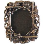 Sterling Silver Picture Frame Brooch