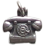 Sterling Silver Vintage Telephone Charm