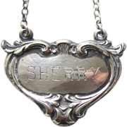 Vintage Sterling Silver Decanter SHERRY tag